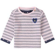 Der Pullover Gardere im Streifenmuster mit aufgestickter Herzapplikation bietet einen angenehmen Tragekomfort. Die praktischen Druckknöpfe an der Schulter erleichtern das An- und Ausziehen. erhältlich in den Größen 56 - 86 statt € 19,99 jetzt um nur € 13,99 NUR SOLANGE DER VORRAT REICHT! Kind Mode, Sweaters, Fashion, Girls Sweaters, Knit Jacket, Jackets, Stripe Pattern, Tops, Trousers