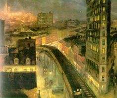 John Sloan - The City from Greenwich Village , 1922, National Gallery of Art