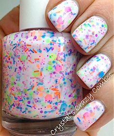 Fun nails. I love love love this Polish!! Devo averlo! *-*