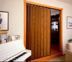 One of the most interesting principle behind accordion doors is that they are seldom made use of as actual entryways as well as exits. Read Best Accordion Doors Ideas for Your House Cheap Room Dividers, Office Room Dividers, Room Divider Shelves, Portable Room Dividers, Folding Room Dividers, Room Divider Doors, Folding Doors, Accordian Door, Accordion Shutters
