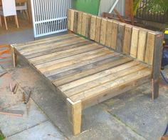 daybed made of pallets | Custom Handmade Recycled Pallet Timber Daybed Miami Gold Coast South ...