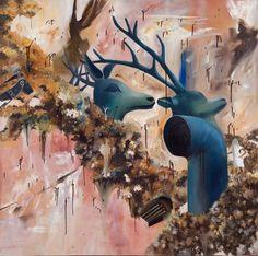 "Saatchi Art Artist Woojung Son; surreal painting, ""M65"" #art"