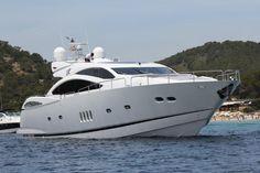 Luxury Crewed Motor Yacht JAX OF IBIZA - Sunseeker Predator 92 Sport - 4 Cabins - Marina Ibiza - Formentera - San Antonio http://www.boatbookings.com/yacht_search/yacht_view.php?pid=12753