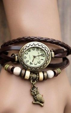 Pronta Entrega! Relógio Owl Vintage  BRINDE= linda joia em prata,nas compras acima de R$200,00,na Leona Secrets!!