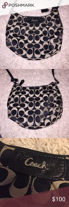 Coach Crossbody Bag Coach Crossbody Bag in Black! Never used! Perfect to throw on and go shopping! Coach Bags Crossbody Bags
