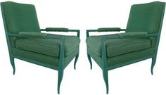 Robert Massello Antiques - Tommi Parzinger - Pair Chairs by Tommi Parzinger