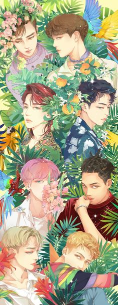 Find images and videos about kpop, exo and chanyeol on We Heart It - the app to get lost in what you love. Kpop Exo, Sehun, Exo Kokobop, Exo Anime, Anime Guys, Anime Art, Jonghyun, Chibi Exo, Character Illustration