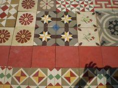 Vintage spanish encaustic tile