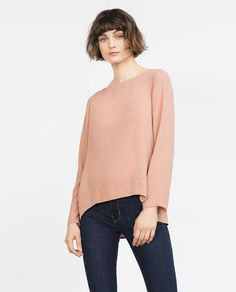 Image 2 of BOAT NECK BLOUSE from Zara