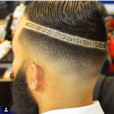 Disenos de cortes de pelo con rayas