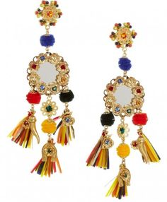 Brightly colored Tassled Earrings by Dolce & Gabbana
