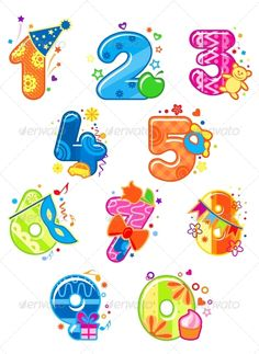 Buy Cartoon Digits and Numbers with Toys by VectorTradition on GraphicRiver. Cartoon digits and numbers with toys for childish mathematics design. Editable and JPEG (can edit in any vector . Scrapbook Sketches, Card Sketches, Stylish Alphabets, Birthday Clipart, Doodle Coloring, Cute Cartoon Animals, Bird Crafts, Creative Lettering, Flower Backgrounds