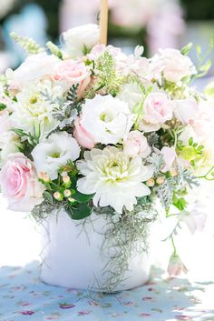 Lovely flowers at a Pretty Ballerina Party #ballerina #partyflowers