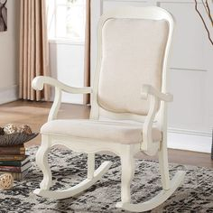 Rocking Chair Makeover, Nursery Rocker, Nursery Rocking Chair in Ikat ...