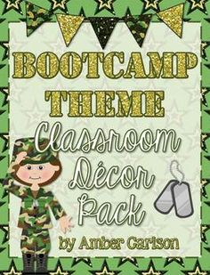 Do you run a Test-Prep Boot Camp in your classroom to make the testing season fun? Or maybe you just want to have a boot camp themed classroom all year long! Check out this new classroom decor pack! Includes: Pennant flags; desk name plates; supply labels; subject labels; period labels; table numbers; and daily schedule cards!