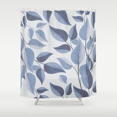 Buy blue leaves Shower Curtain by andreas12. Worldwide shipping available at Society6.com. Just one of millions of high quality products available.