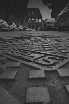 SPQR detail in a Roman manhole Different Points Of View, Classical Antiquity, Vatican City, Cinque Terre, Rome Italy, Where To Go, Tuscany, Black And White Photography, Photo Art