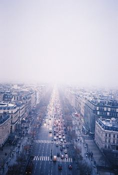 """""""view from the arc de triomphe"""" paris, france."""