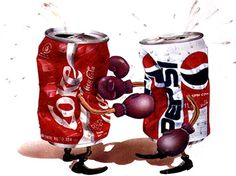 I don't mean to be biast....but look at the size of the dent in that Pepsi can....Coke, u rock!