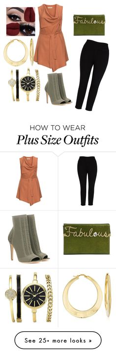 """Fabulous in Any Size"" by smays0990 on Polyvore featuring Isolde Roth, Melissa McCarthy Seven7, Charlotte Olympia, Gianvito Rossi, Ross-Simons and plus size clothing"