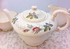 Beautiful Bridal Rose 1 3/4 pint Teapot by LavenderRoseCottage, £30.00