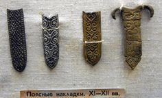 Belt ends, 11th to 12th centuries. Novgorod