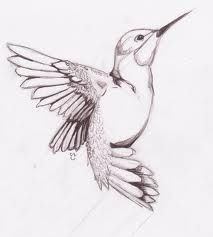 Simple Hummingbird Tattoo