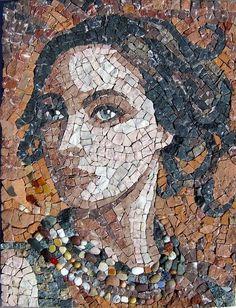"""""""Envisage"""" 55x35cm. marbre, brique, galets, divers... Patricia Hourcq"""