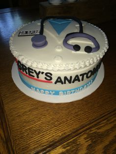 Grey's Anatomy Birthday Cake