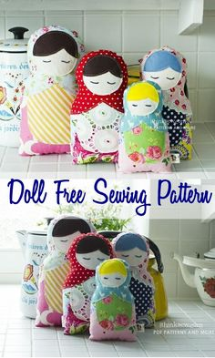 Matroyshika Doll FREE PDF Pattern (affiliate link)  A perfect easy to sew gift for little girls.