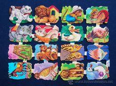 LAMINA CROMOS TROQUELADOS EVA-120. DIVERSOS ANIMALES.RELIEVE.OFERTA - Foto 1