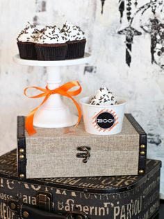 Cupcakes To Go  - 21 Halloween Party Favor and Treat Bag Ideas on HGTV