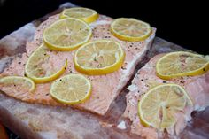 Himalayan Salt Block Salmon with Lemon Cooking With Ground Beef, Cooking A Roast, Salt Block Grilling, Himalayan Salt Block Cooking, Cooking Fresh Green Beans, Cooking Stone, Grilled Salmon Recipes, No Salt Recipes, Egg Recipes