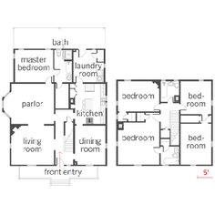images about American Foursquare on Pinterest   Foursquare    floor plans of the alterations made during the remodel