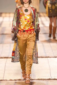 Etro - Striped Silk Straight-leg Pants - Yellow