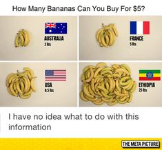 Funny pictures about The Price Of Bananas In Different Countries. Oh, and cool pics about The Price Of Bananas In Different Countries. Also, The Price Of Bananas In Different Countries photos. Funny Quotes Tumblr, Funny Tumblr Posts, Funny Memes, Super Funny, Funny Cute, The Funny, Funny Pics, Funny Videos, Nintendo Ds