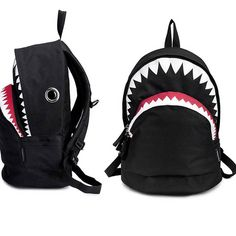 Amazon.com: CrazyPomelo Big Shark Cartoon Backpack: Outdoor Backpacks: Clothing