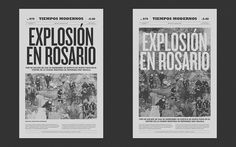 Newspaper cover by Francisco Andriani, via Behance