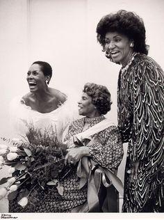 Shirley Verrett (left), Marian Anderson, Grace Bumbry (right) January 31, 1982 Photographer: Henry Grossman