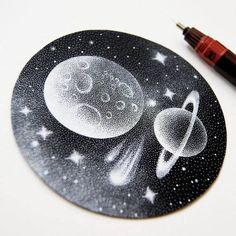 Dotted Galactic Black and White Illustration by Petra Kostova Circle Drawing, Cloud Drawing, Circle Art, Black And White Clouds, Dotted Drawings, Epic Drawings, Stippling Art, Cosmic Art, Black And White Illustration