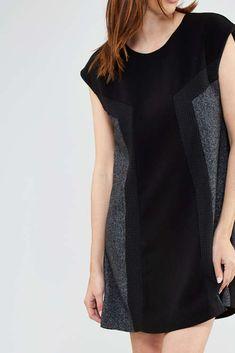 Robe vero moda bleu et noir