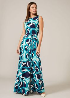 Lurina Circle Print Maxi Dress Phase 8 Dresses, Night Style, Easy Day, Phase Eight, Winter Colors, Fashion Night, Bold Prints, Fitness Fashion, Looks Great