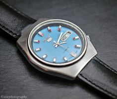Seiko Automatic 6319A Blue Re-Dial   Check us out and post! http://www.watchcollectorsclub.com