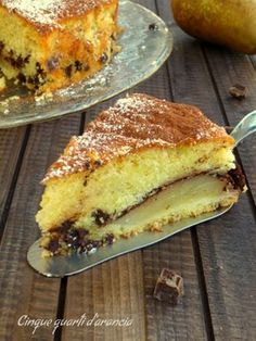 Whole pear cake - HQ Recipes Fruit Recipes, Sweet Recipes, Cake Recipes, Dessert Recipes, Cooking Recipes, Italian Cake, Italian Desserts, Italian Recipes, My Favorite Food