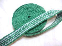 Greek key tablet weaving in cotton by fairesisters viking tablet woven belt sca re-enactment