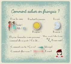 Les salutations #FLE #vocabulary