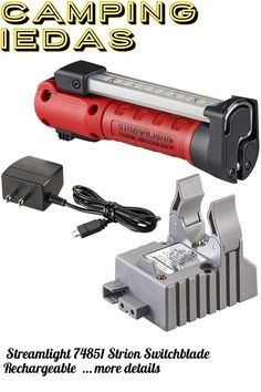 (This is an affiliate pin) Streamlight 74851 Strion Switchblade Rechargeable Multi-Function Compact Work Light with 120V/100V AC 1 Holder Charger, Red