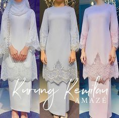 My definition of love at first sight. It's classic, elegant and modest. They said beautiful things don't ask for attention, but this one is definitely a scene stealer! ❤️ - Thank you for your amazing creations 🙏🏻 - Muslimah Wedding Dress, Muslim Wedding Dresses, Wedding Hijab, Dream Wedding Dresses, Wedding Attire, Wedding Gowns, Bridesmaid Dresses, Muslim Dress, Malay Wedding Dress