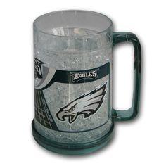 16Oz Crystal Freezer Mug NFL Philadelphia Eagles