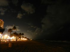 Hollywood Beach at night ... 4/2012